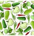 Cartoon spring vegetables seamless pattern vector image