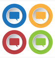 set of four icons - speech bubble vector image
