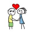 Love between boy and girl vector image