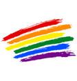 brushstroke rainbow flag lgbt movement vector image