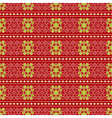 Christmas seamless wrapping paper - stars flowers vector image