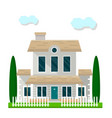 colorful residential building with garden isolated vector image