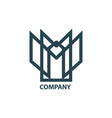 design geometric logo for company vector image