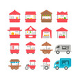 flat design stall set vector image