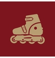 The roller skate icon Skates symbol Flat vector image