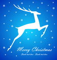 Christmas deer on blue background vector image vector image