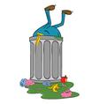 entering trash bin vector image vector image