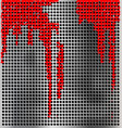 metal background with red vector image vector image