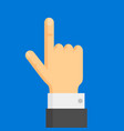 pointing finger hand vector image