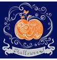 lace pumpkin for hallowmas vector image