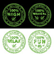 marijuana stamps vector image