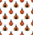 ladybugs pattern vector image