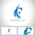 Corporate Blue Logo vector image
