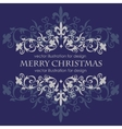 Merry Christmas message and dark blue background vector image