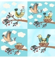 Birds and chicks vector image