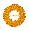 Round Frame from Autumn Orange Leaves vector image vector image
