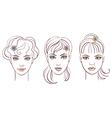 beautiful women portraits vector image vector image