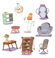 Set of cute furniture vector image