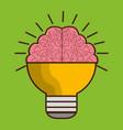 brain bulb icon vector image