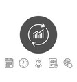 chart line icon update report graph sign vector image