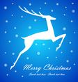 Christmas deer on blue background vector image
