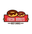 Donuts linear symbol for cafe and bakery design vector image