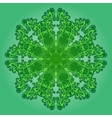 filigree pattern on green vector image