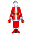 fur coat santa accessory traditional christmas vector image