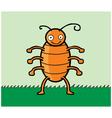 happy cockroach cartoon vector image
