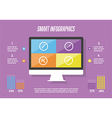 Infographic elements background vector image