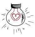 Light of love vector image
