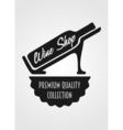 Logotype concept with wine bottle and titling Wine vector image