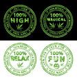 Marijuana stamps vector image