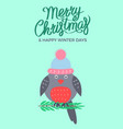 merry christmas green poster vector image