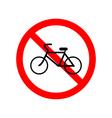 No bicycle bike prohibited symbol vector image