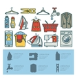 Set of elements of a laundry room vector image