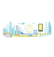 Smart Technology in Infrastructure of City vector image