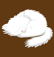 white dog vector image