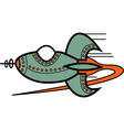 Cartoon retro spaceship vector image