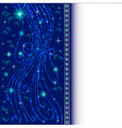 background frame with jewels and shiny threads vector image vector image