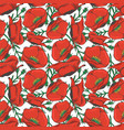 red poppy seamles pattern design - floral fashion vector image
