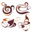 coffeetea elements for design vector image vector image