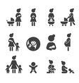 morther icon set vector image