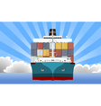 cargo container ship vector image