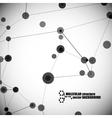 beautiful molecular structure vector image