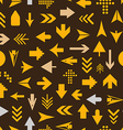Arrow sign silhouettes seamless pattern vector image