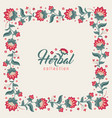 floral square frame jacobean style flowers border vector image