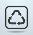 Icon of Recycle sign symbol vector image