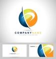 Letter P Logo vector image