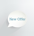 New Offer vector image